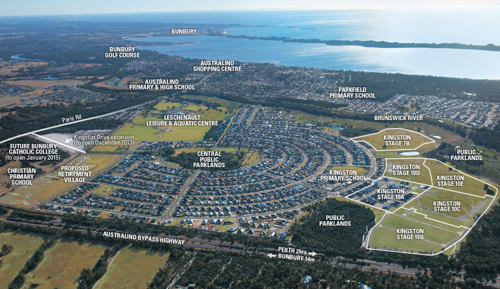 Located in Australind - Kingston Estate is leading the way for residential developments in WA's southwest